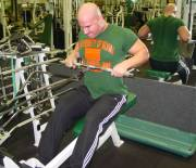 Seated cable rows, overhand mid-grip 2