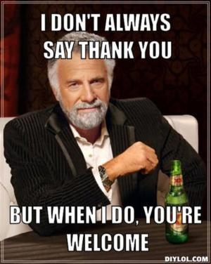 Thank you meme thank you meme official website of joe defranco & defranco's gym!