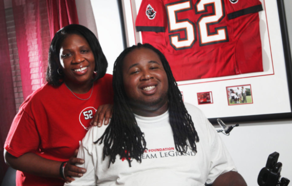 Eric LeGrand and his Mom