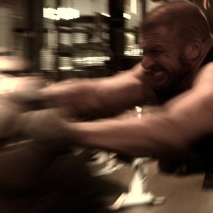 Exclusive video footage of Triple H preparing for Wrestlemania 29 at DeFranco's Gym!